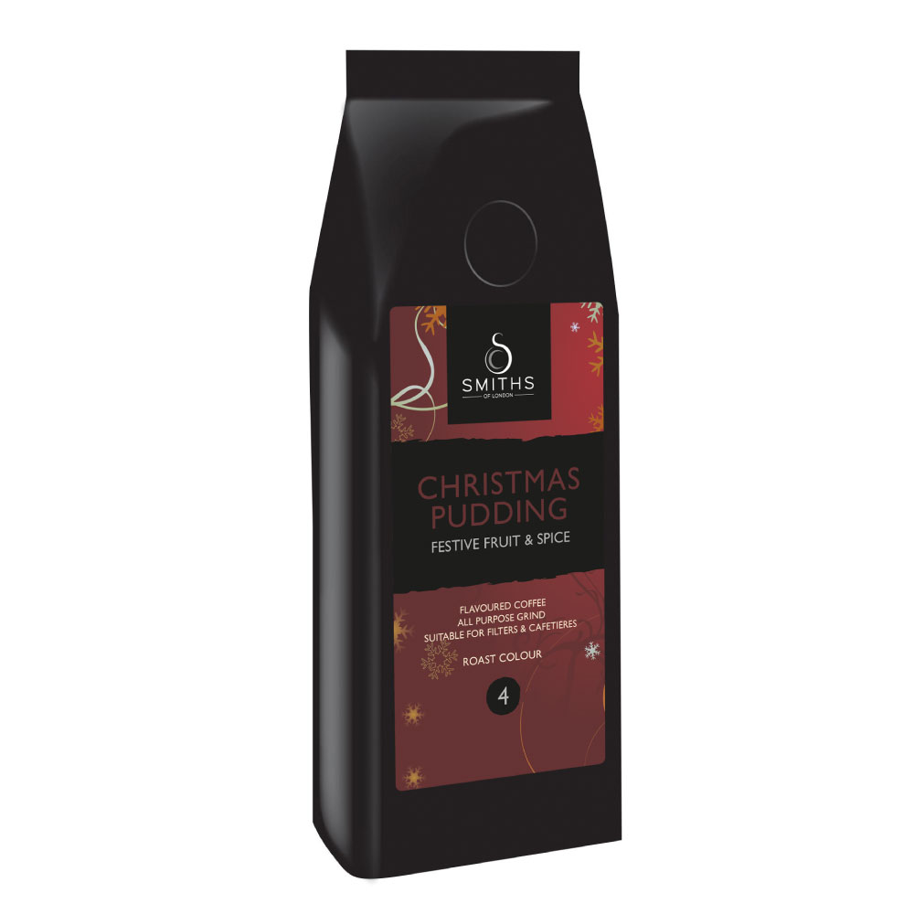 Christmas Pudding Flavoured Coffee, Smiths of London