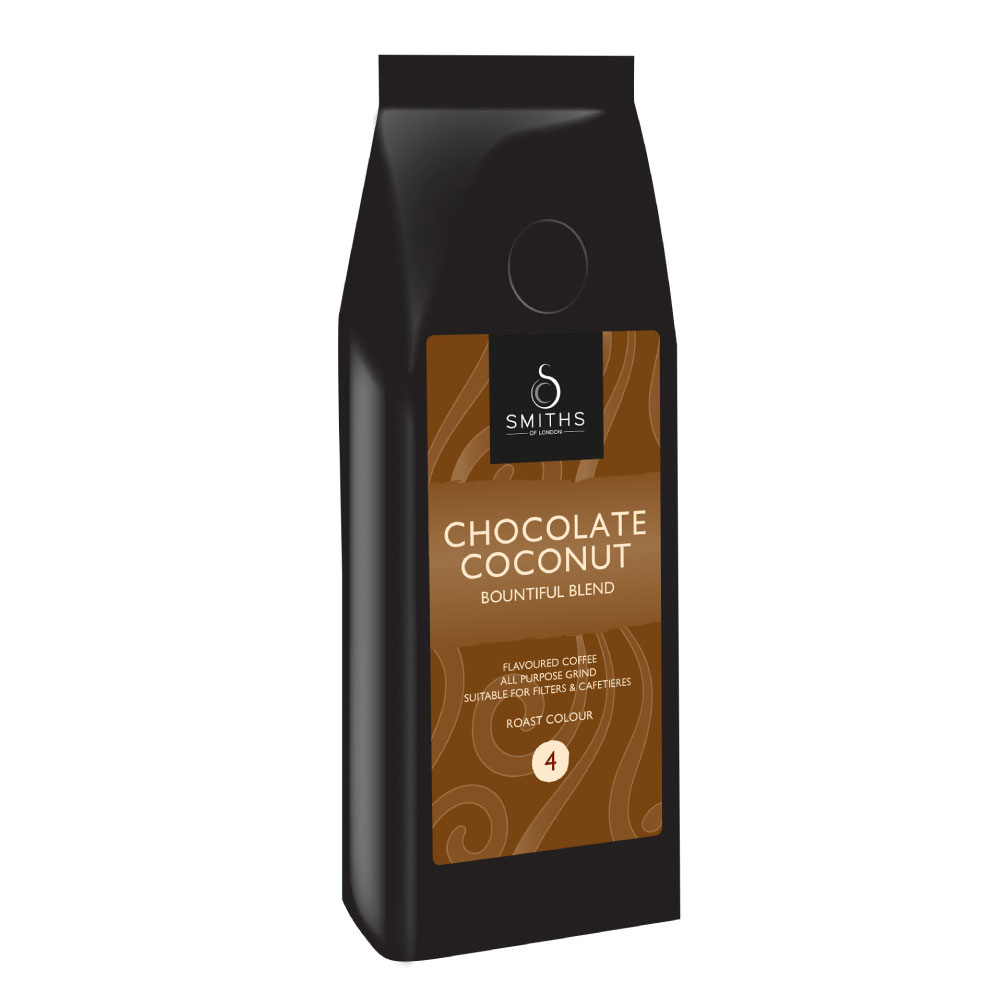 Chocolate Coconut Flavoured Coffee, Smiths of London