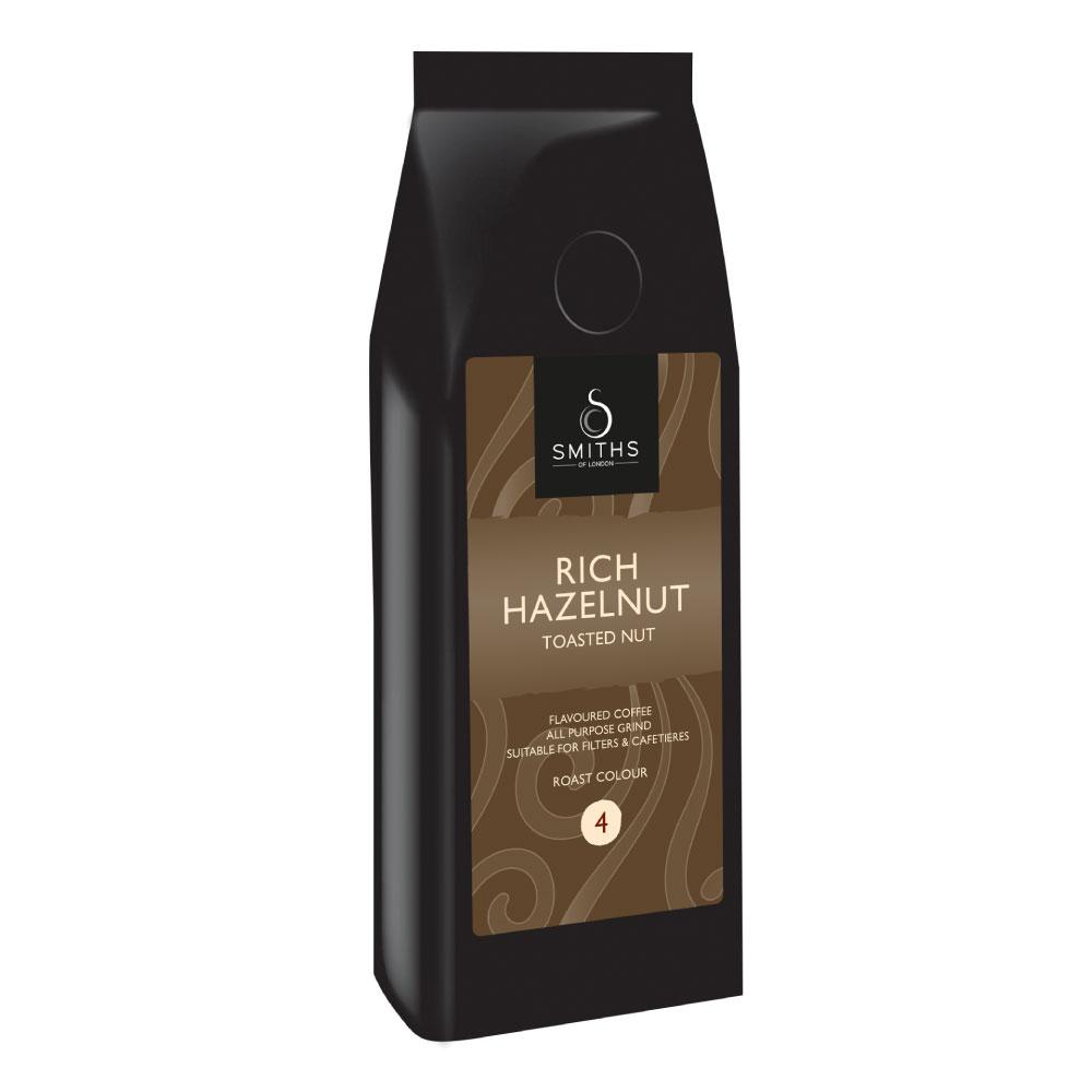 Rich Hazelnut Flavoured Coffee, Smiths of London