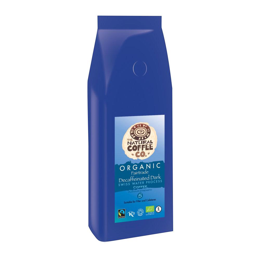 Organic Fairtrade Swiss Water Dark Roast Decaffeinated Coffee