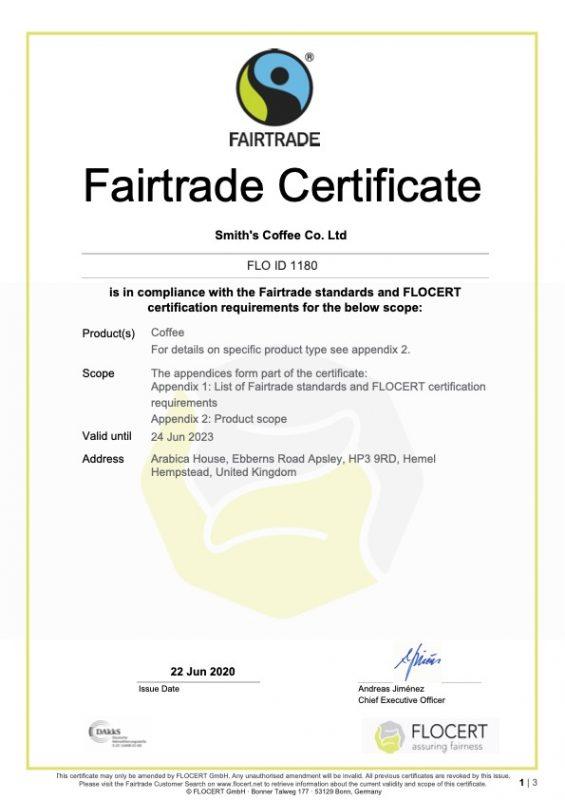Fairtrade Certificate