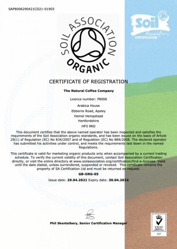 NCC Organic Certificate